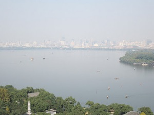 View of Hangzhou from top of Pagoda