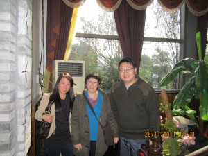 Me,Yoan and his wife after Cappuccino