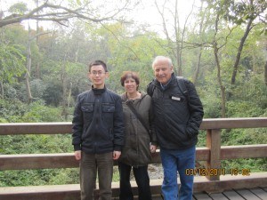 Us with Yinsheng in the scenic park around the temple