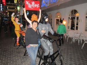 Me and Batman in the Pub Street,Quanzhou