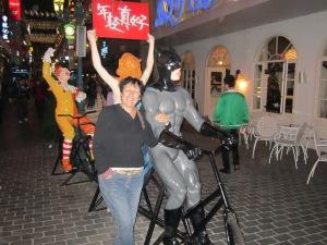 Me and Batman in the Pub Street,Quanzhou