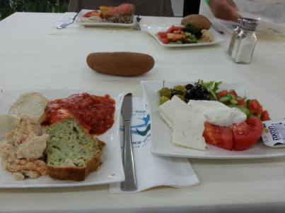 Breakfast at Nof Ginosar Kibbutz Hotel