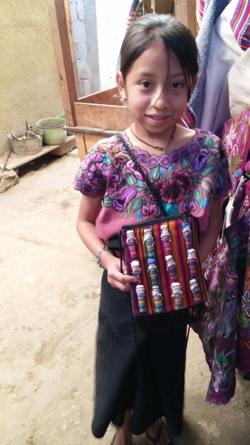 Girl in the textile shop San Juan