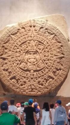The famous Aztec Sunstone