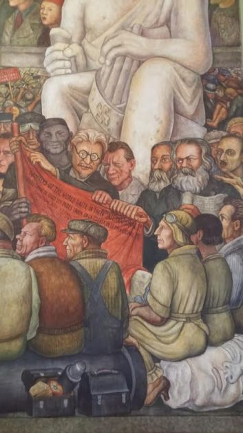 Diego Rivera murals in The Palacio de Bellas Artes
