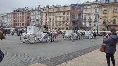Droshkes in main square