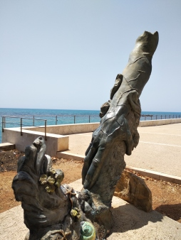 Statue at Sciacca beach
