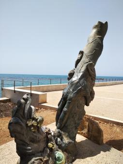 Statue at Sciacca beach