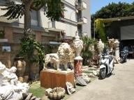 Our parking lot inside an antiques sotre!antiqu