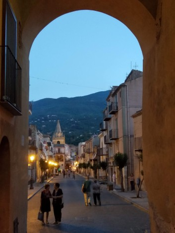 Castelbuono at night