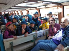 The kids on the Tokyo cruise